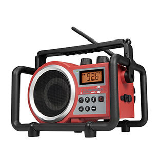 Rotes Baustellenradio PerfectPro TOUGHBOX