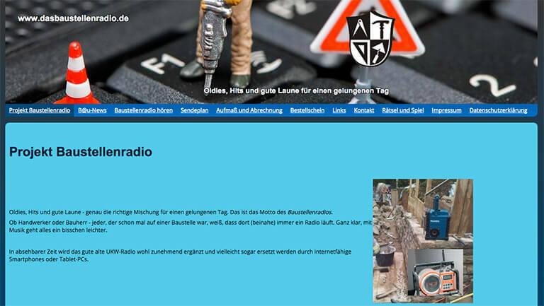 Das Baustellenradio - Screenshot